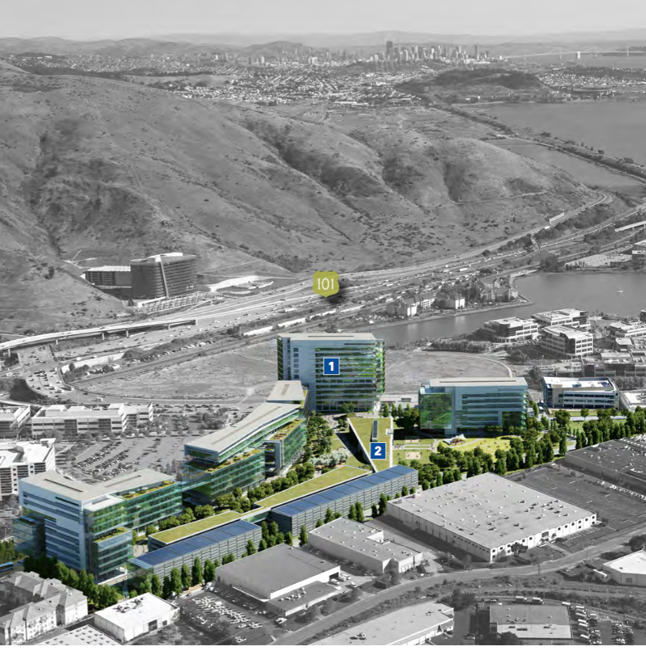 Location of proposed Gateway to the Pacific campus Rendering by BioMed Realty