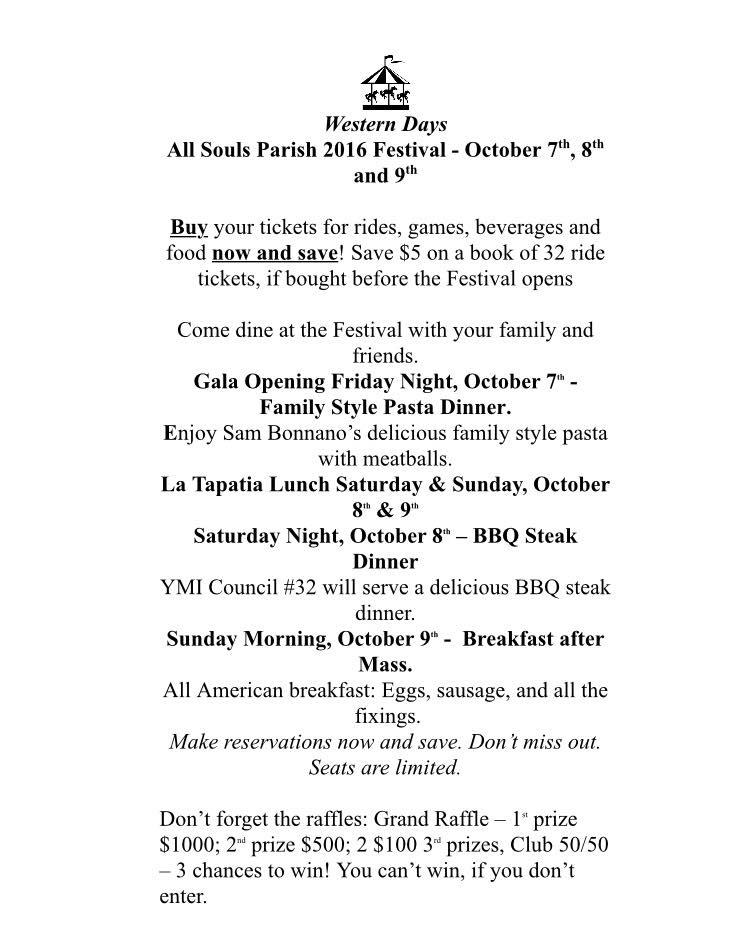 ESC All Souls Festival