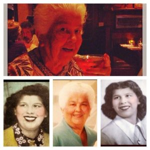 Lydia through the years. She worked at Galli's Bakery for over 20 of them!