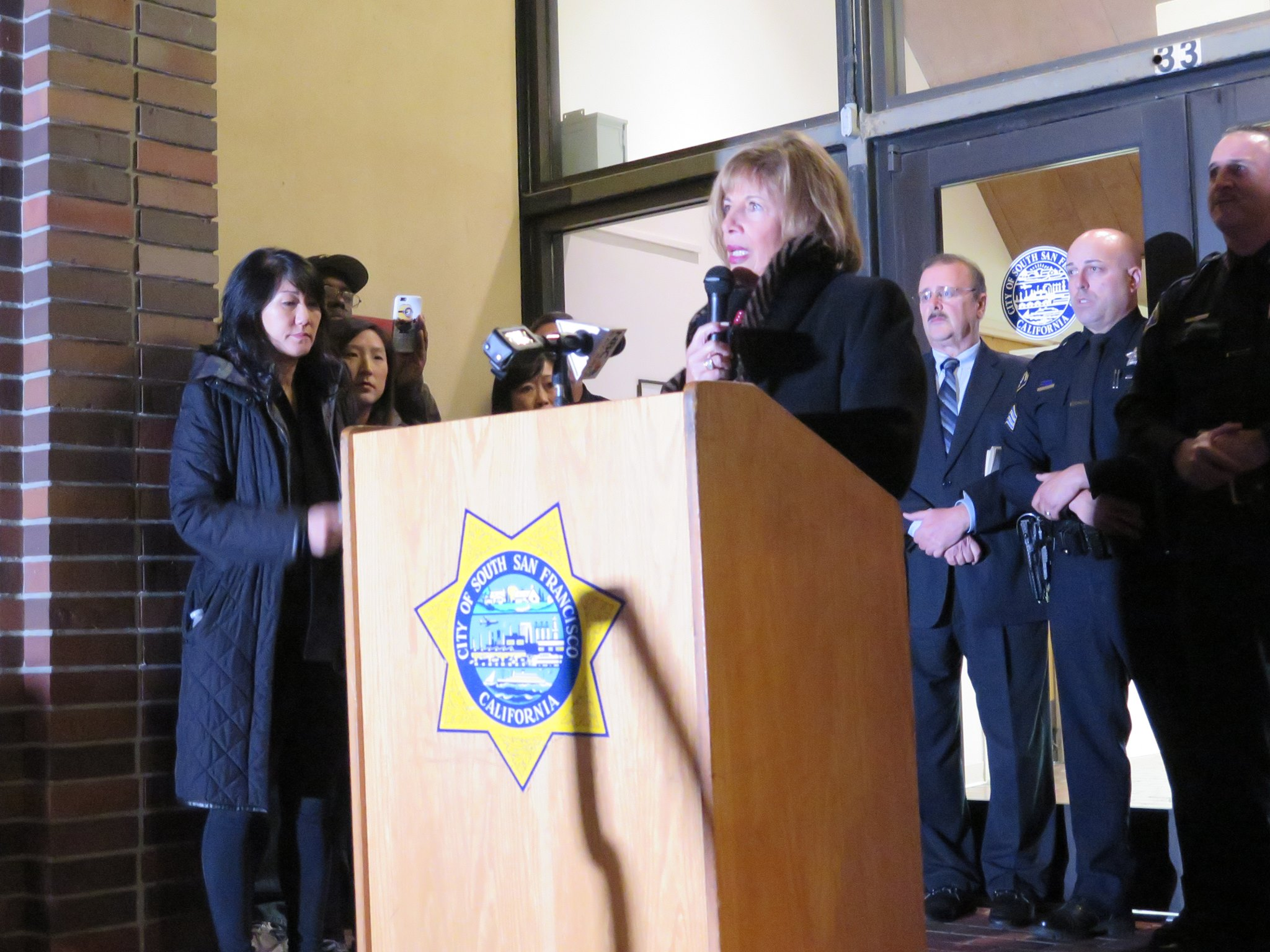 """We are here to recognize a hero"" Congresswoman Jackie Speier said"
