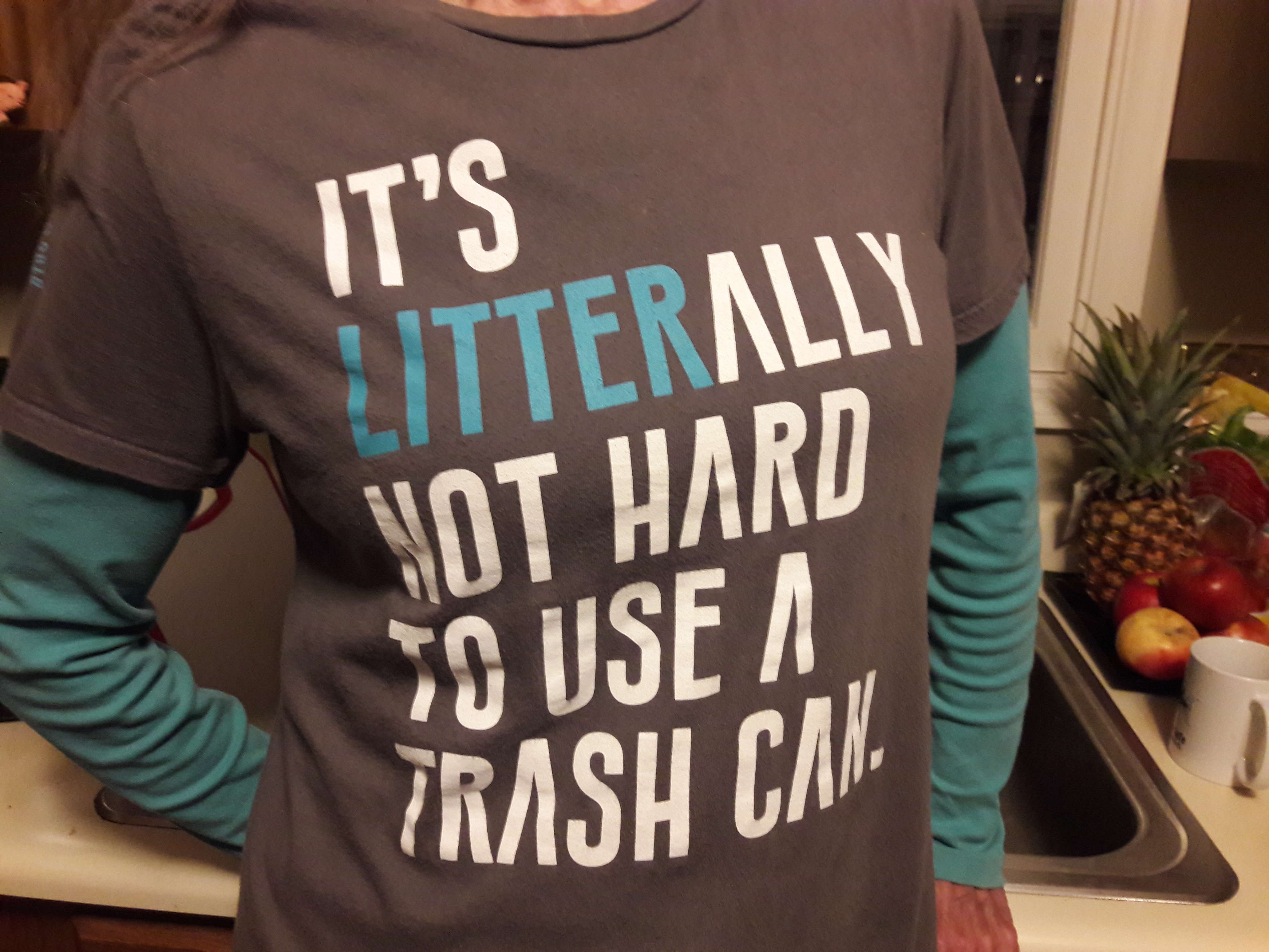 use a trash can T-shirt