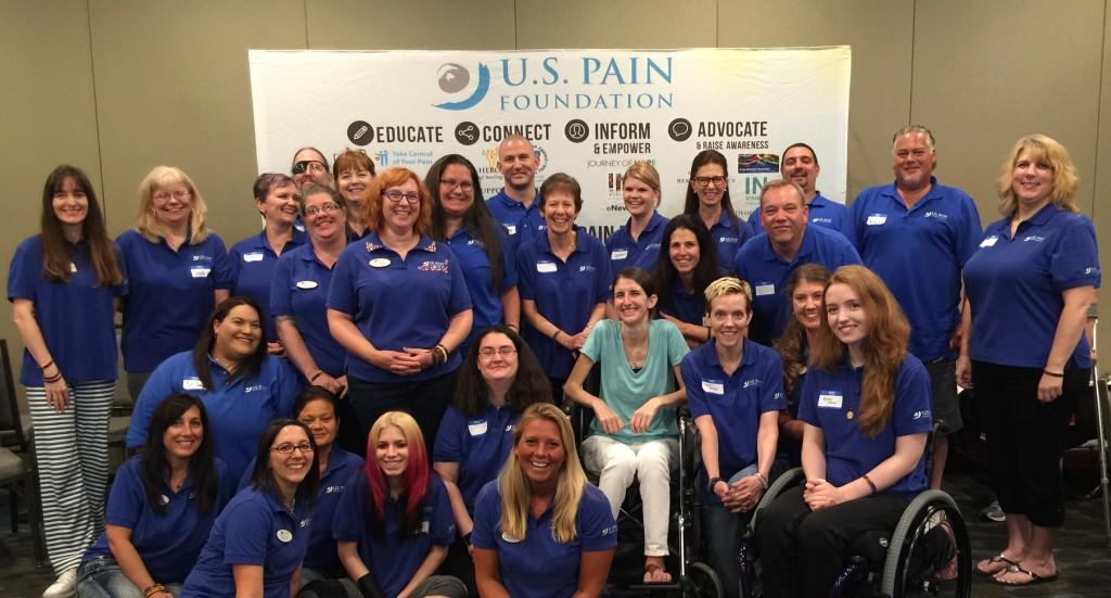 Jenni & the group at the 2015 U.S. Pain Foundation Annual Pain Ambassador Summit