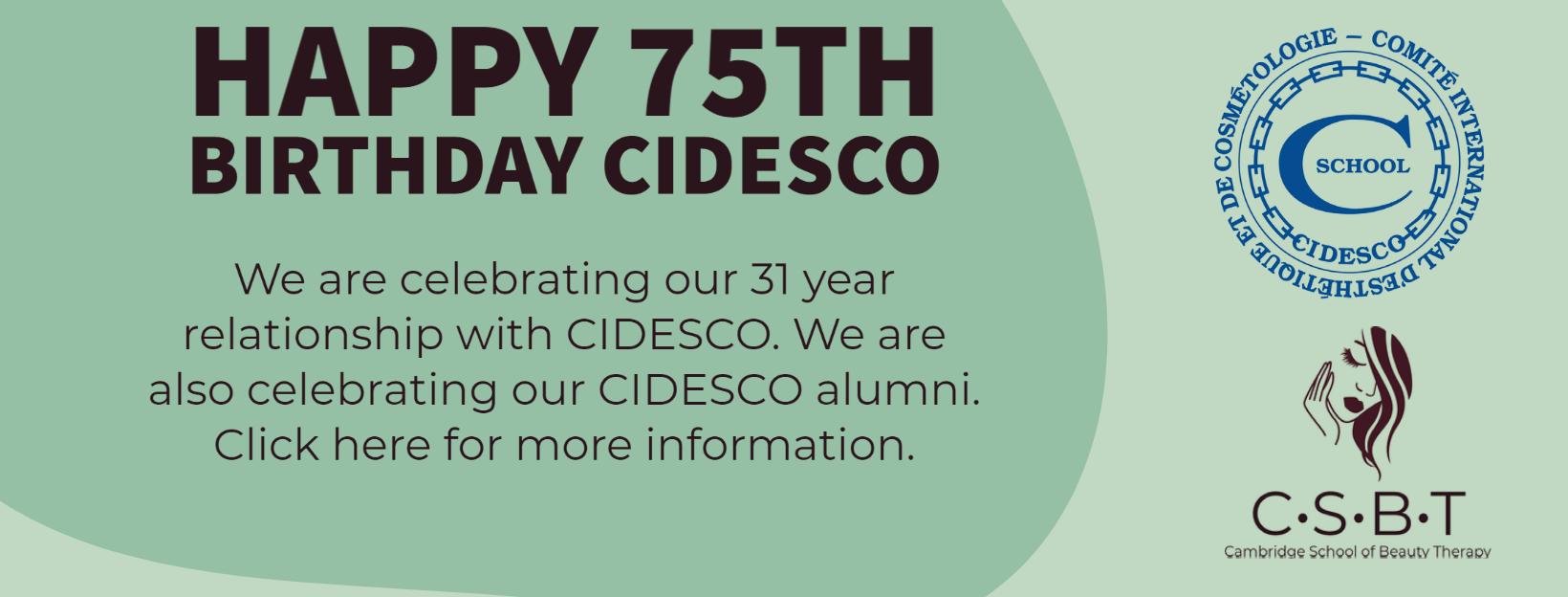 CIDESCO 75th Birthday