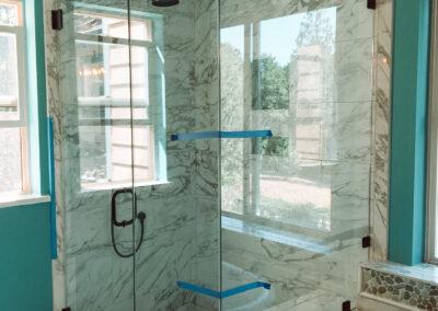 Blue room shower