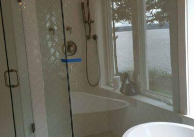 white shower
