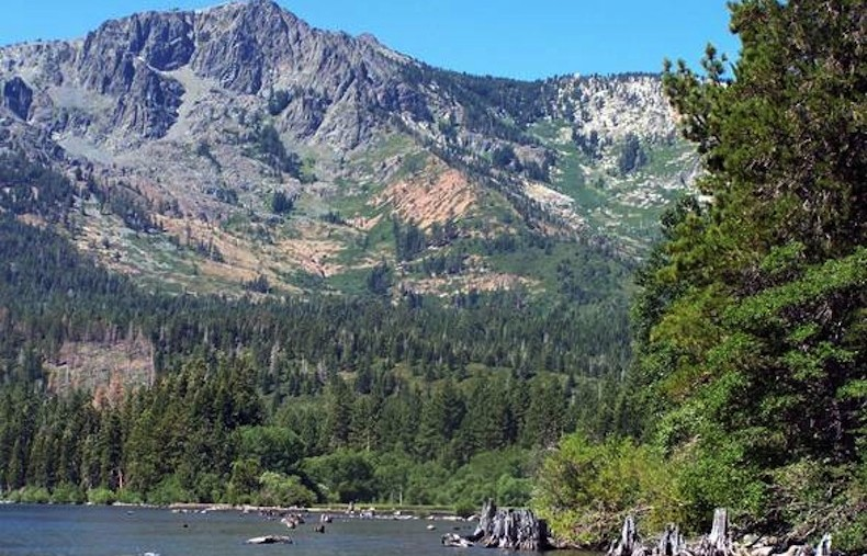 Bike accessible campgrounds: Fallen Leaf Lake Tahoe