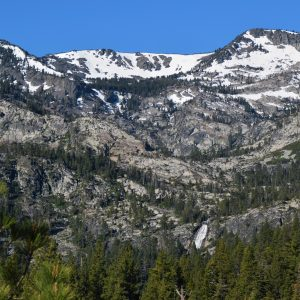 Cascade Waterfall is a beautiful waterfall coming from the Desolation Wilderness and entering Cascade Lake near South Lake Tahoe, California.