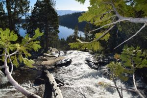 Hiking to Cascade Falls can be exhilarating and picturesque overlooking Cascade Lake and up into Desolation Wilderness - the source of the water from snowmelt.