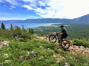 South Lake Tahoe Mountain Biking Trails above the Lake