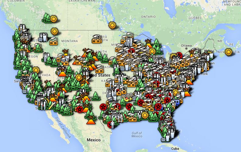 The Big Rig Map - All the Cool things to do across North America