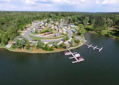 Lake Greenwood Motorcoach Resort Drone View