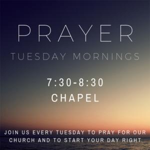 Prayer Tuesday Mornings @ Bethany Assembly of God