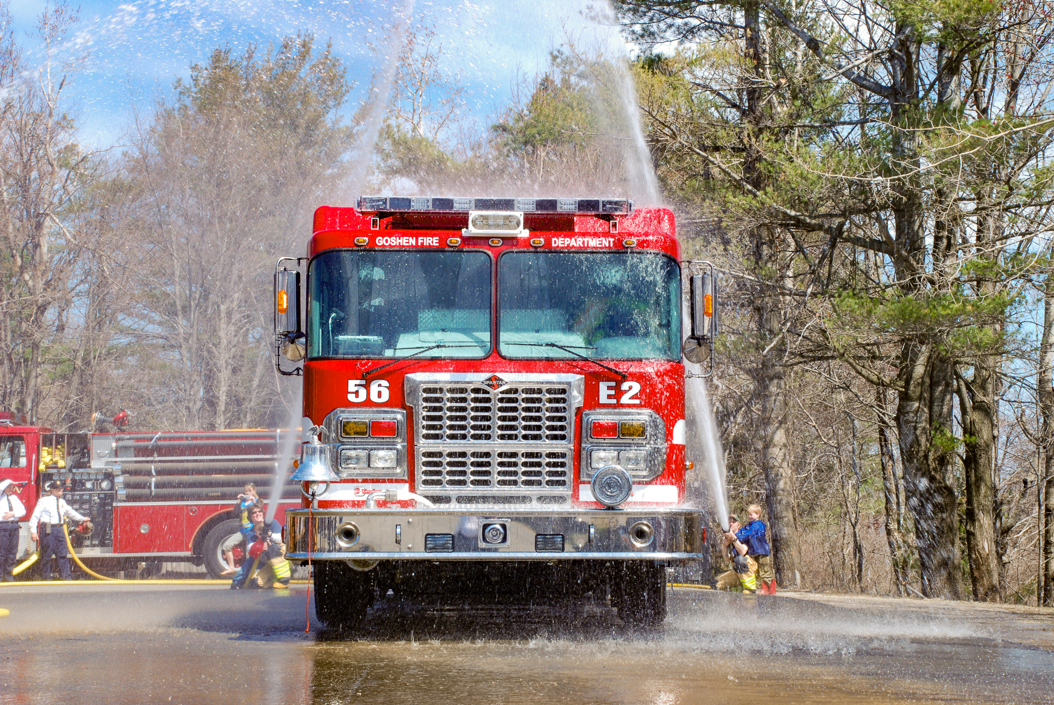 GFD's new 2008 Darley pumper during the wetdown
