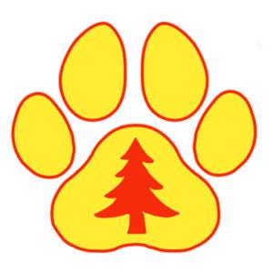 mountain dog tree care icon