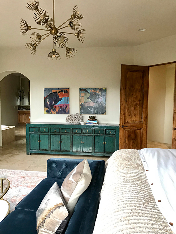 """Bedroom feng shui artwork - a fun way to bring a """"Pair"""" of something into a master bedroom is to add original artwork - in this case a pair of Quail looking at each other."""