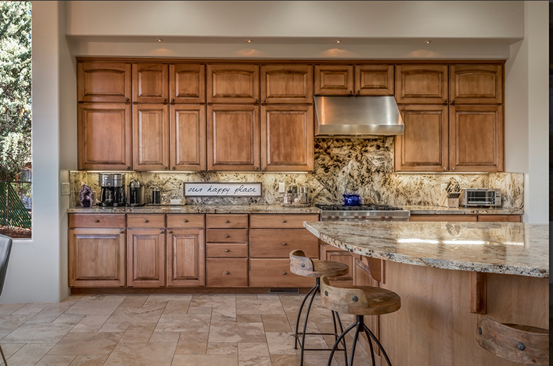 When the Wealth corner (Southeast) falls into a kitchen, add a chunk of purple amethyst. Have the area feel luxurious with high end appliances and a well stocked coffee and espresso bar.
