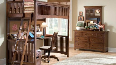 Building-a-Loft-Bed-Cherry-Wood-Furniture