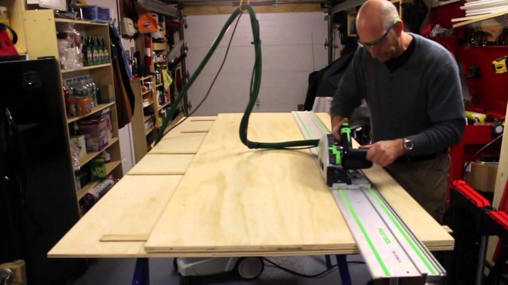 building a track saw for the woodworking shop