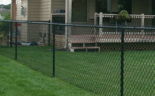 residential black chain link fencing