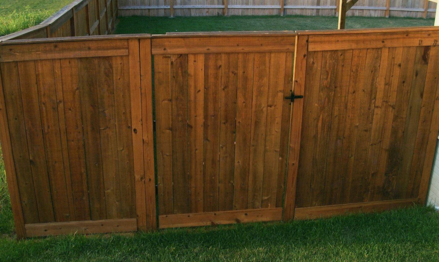 wood fence, fence gate
