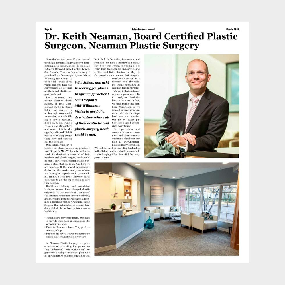 Featured in The Salem Business Journal