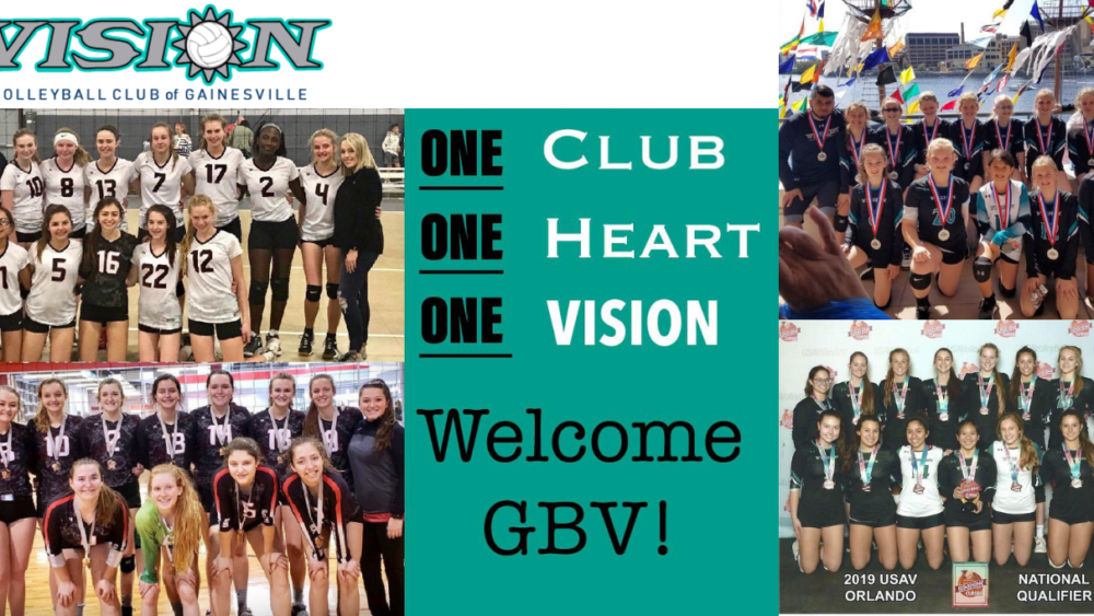 Gbv Joins Vision Volleyball Vision Volleyball Of Gainesville