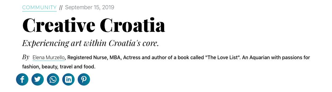 For Thrive: Creative Croatia