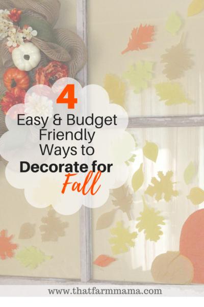fall decorating budget