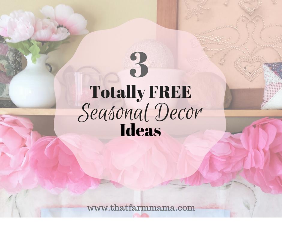 free seasonal decor