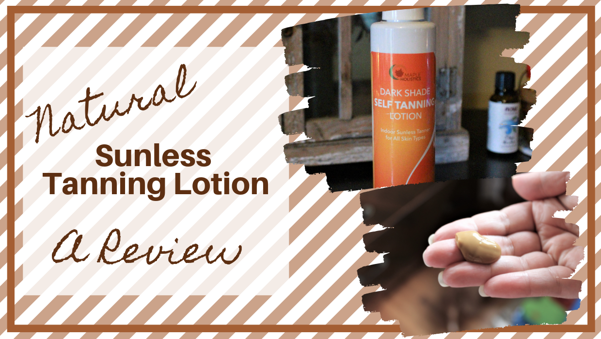 Natural Sunless Tanning Lotion