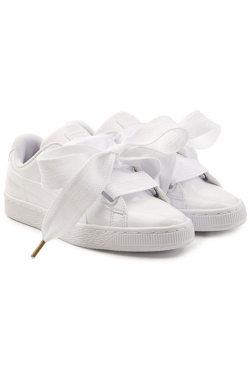 White Basket Patent Shoes