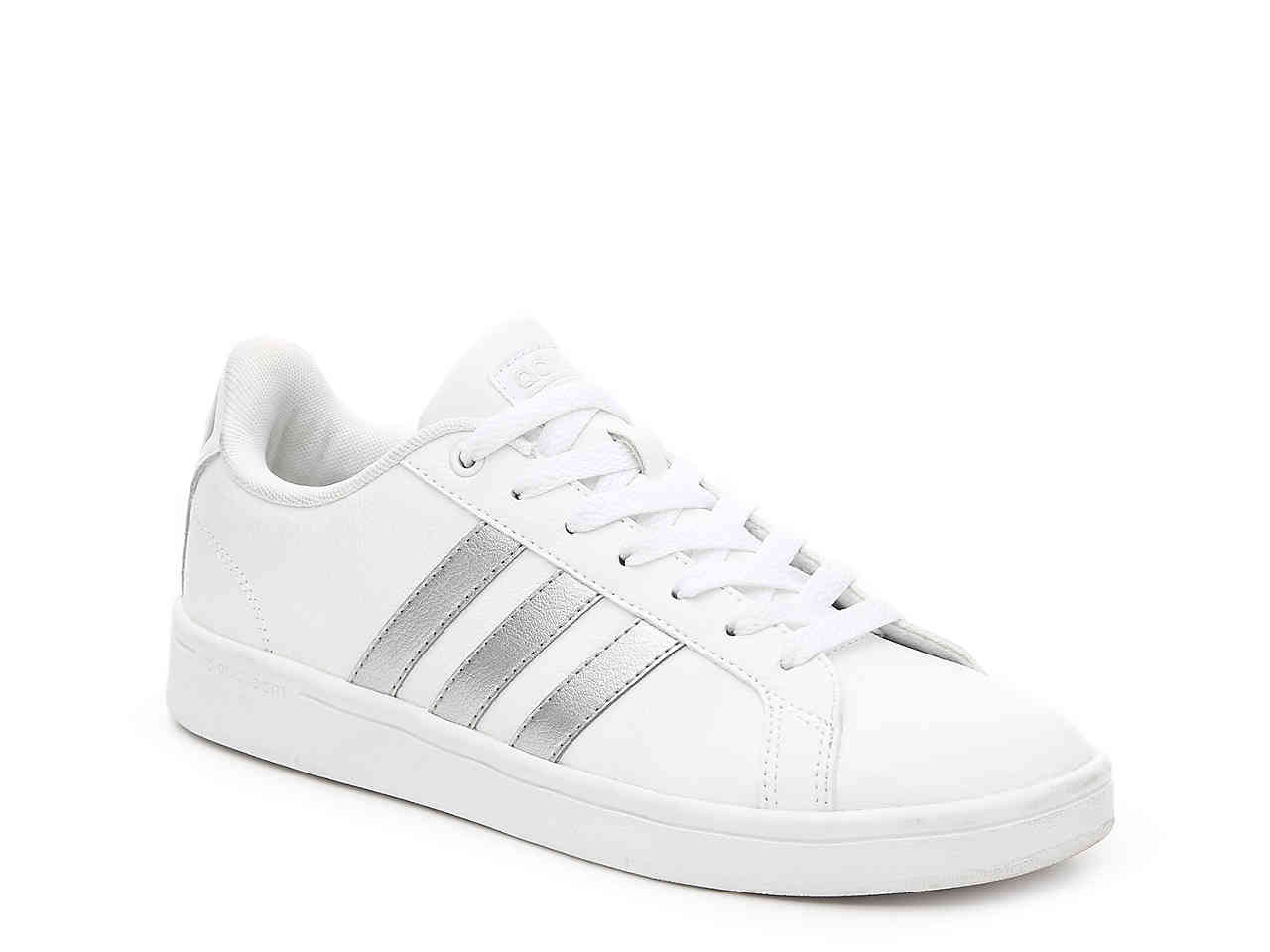 White With Silver Stripe