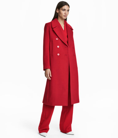 Long Red Coat by HM