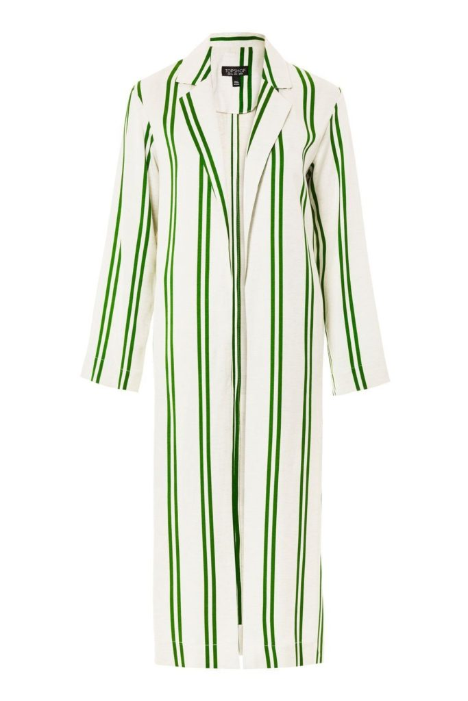 GREEN STRIPED DUSTER