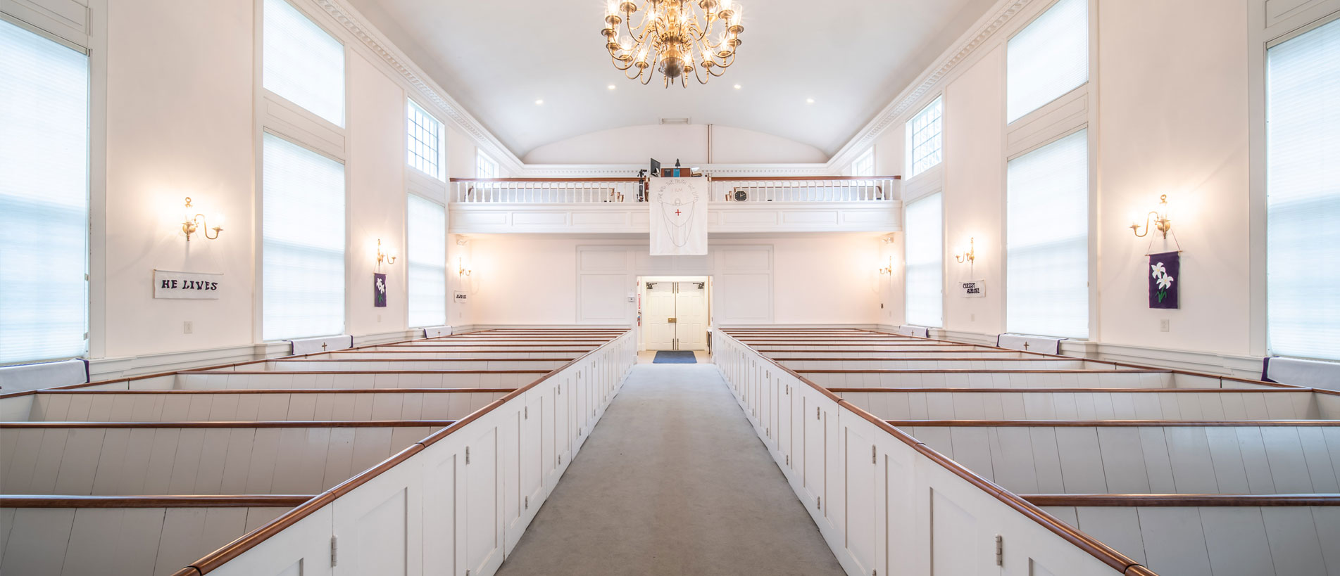 Bakerville Church Sanctuary Pews