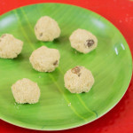 Thenum Thinai mavum (Foxtail millet sweet balls)