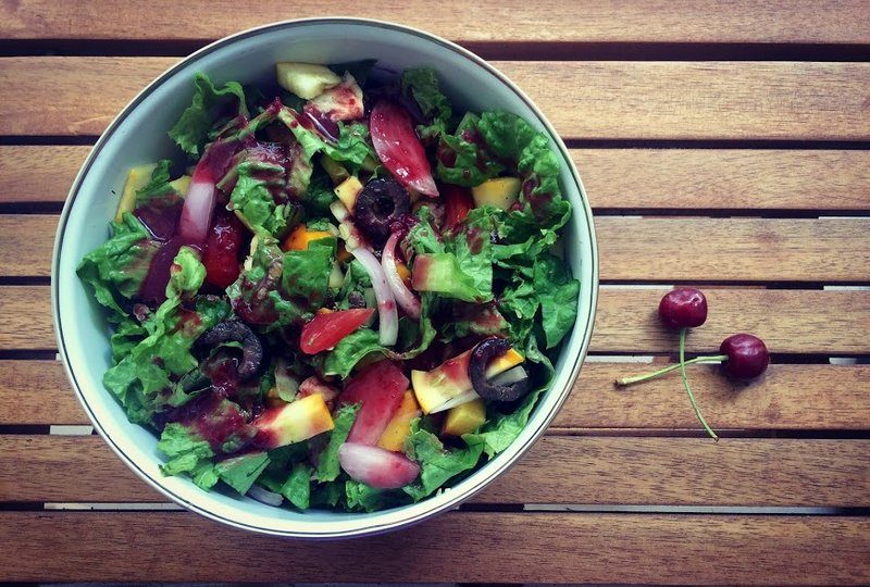 Sweet cherry Vinaigrette Salad
