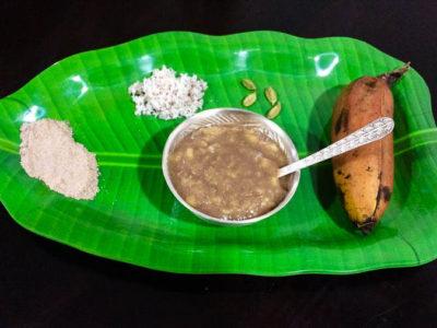 Red rice porridge-Baby food