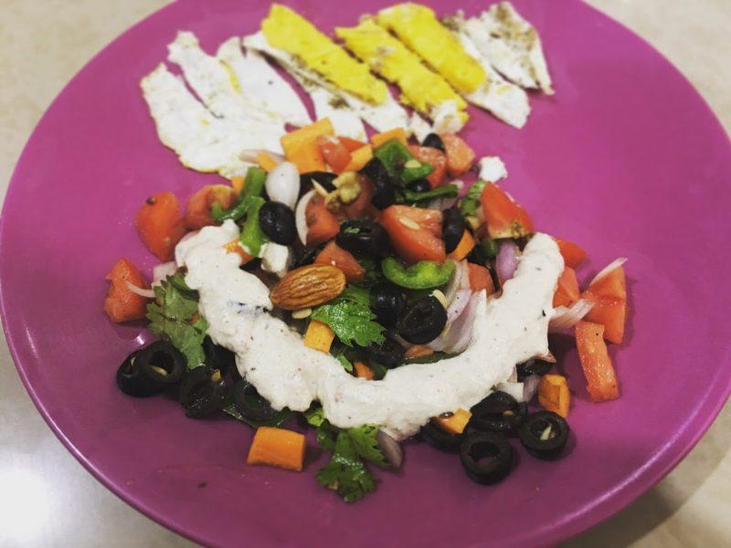 Nutty Vegetable salad