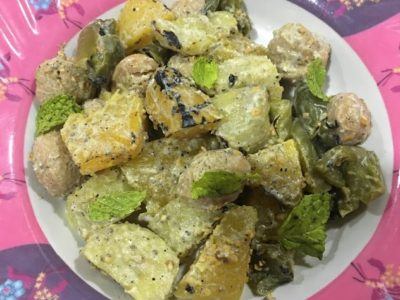 Smoky Salad with North Indian dressing