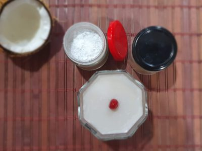 Coconut milk Honey Agar Agar Pudding