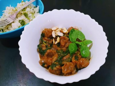 Thai Basil Soya chunks