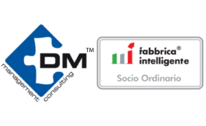 Loghi Fabbrica intelligente in partnership con DM