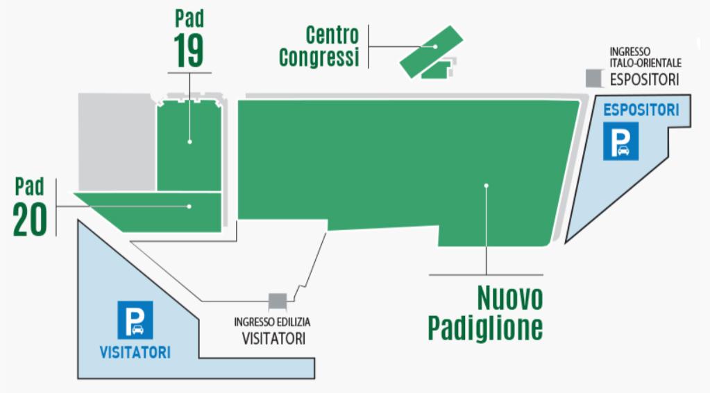Mappa quartiere fieristico MECSPE BARI