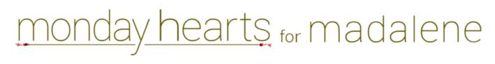 Monday Hearts for Madalene Logo