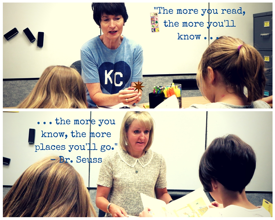 Connie Willsey and Kristen Swanson working with students