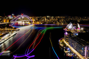Vivid Sydney 2016, opening night, Clr Quay, Harbour Lights. 27/5/2016 Photo credit - James Horan/Destination NSW