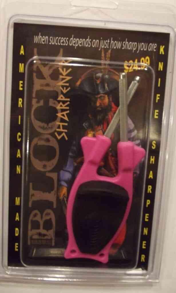 Pink knife sharpener for sale on line.