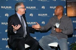 Photo:  Getty ImagesNAMM President, Joe Lamont and Bernie Williams