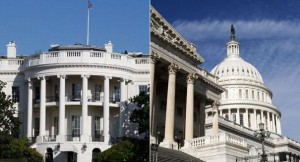 """""""The Congress and the White House are in deadlock..."""" Photo Credit: http://images.politico.com/global/2012/12/11/121211_white_house_capitol_ap_328.jpg"""
